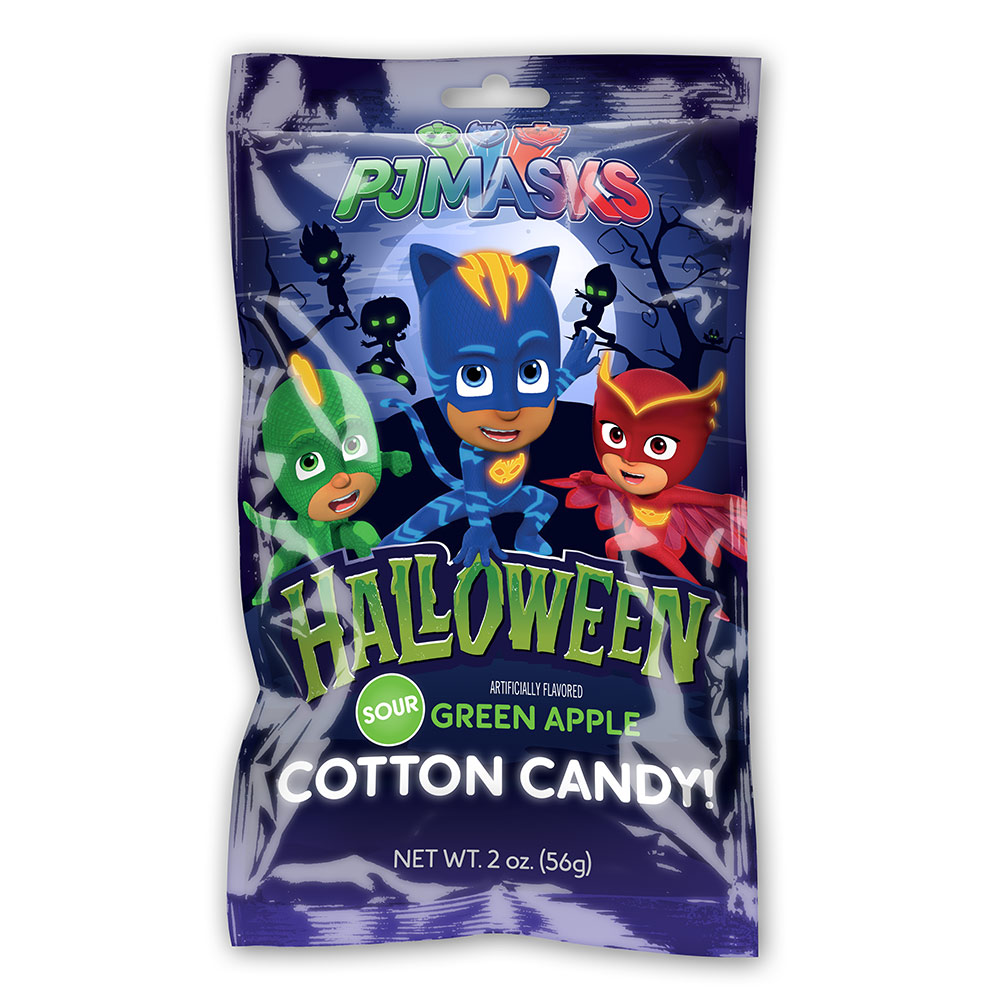2oz PJ Masks Halloween Cotton Candy Bags Cut Case