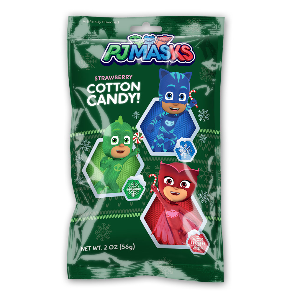 2oz PJ Masks Christmas Cotton Candy Bags Cut Case