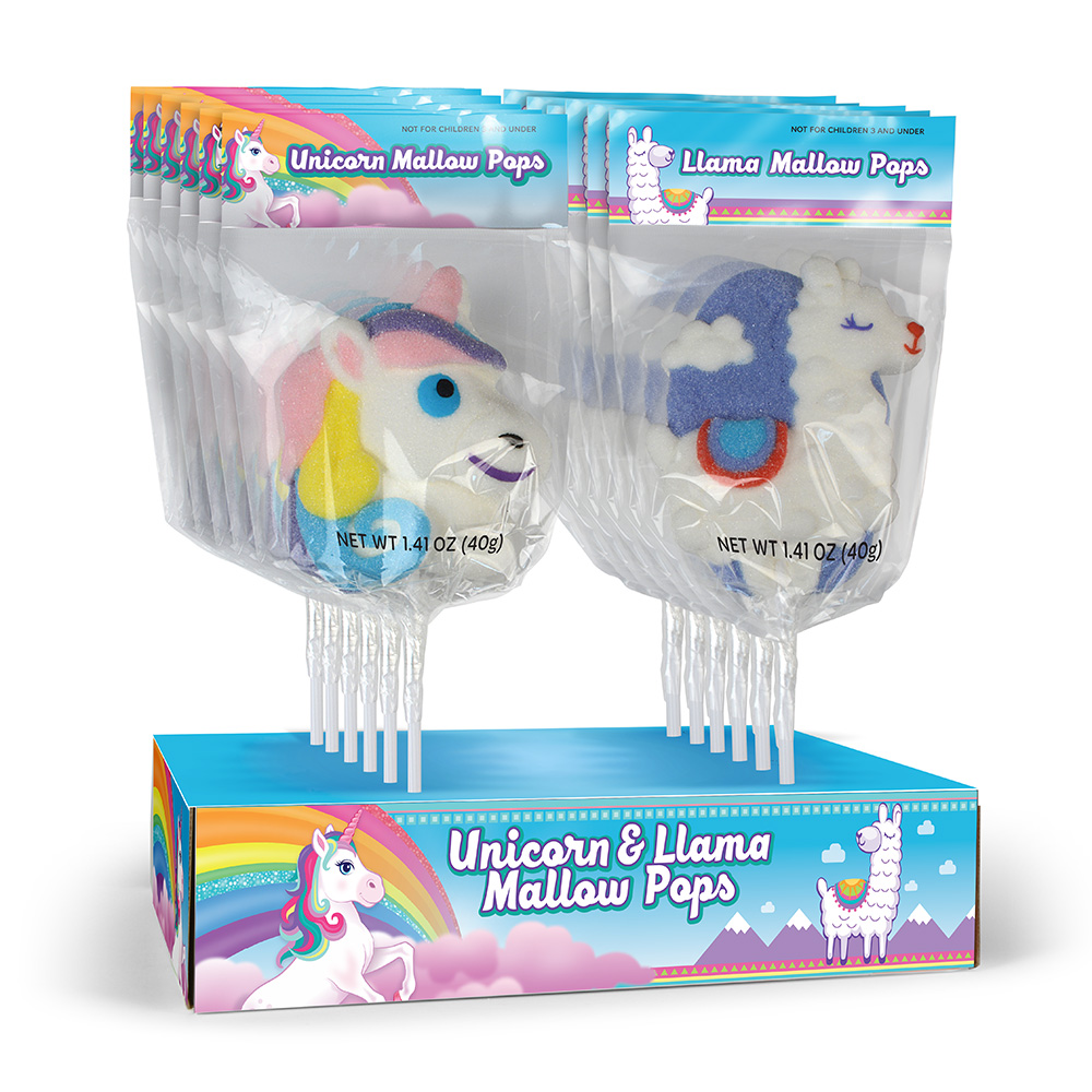 Rainbow Unicorn & Llama Mallow Pop Assortment