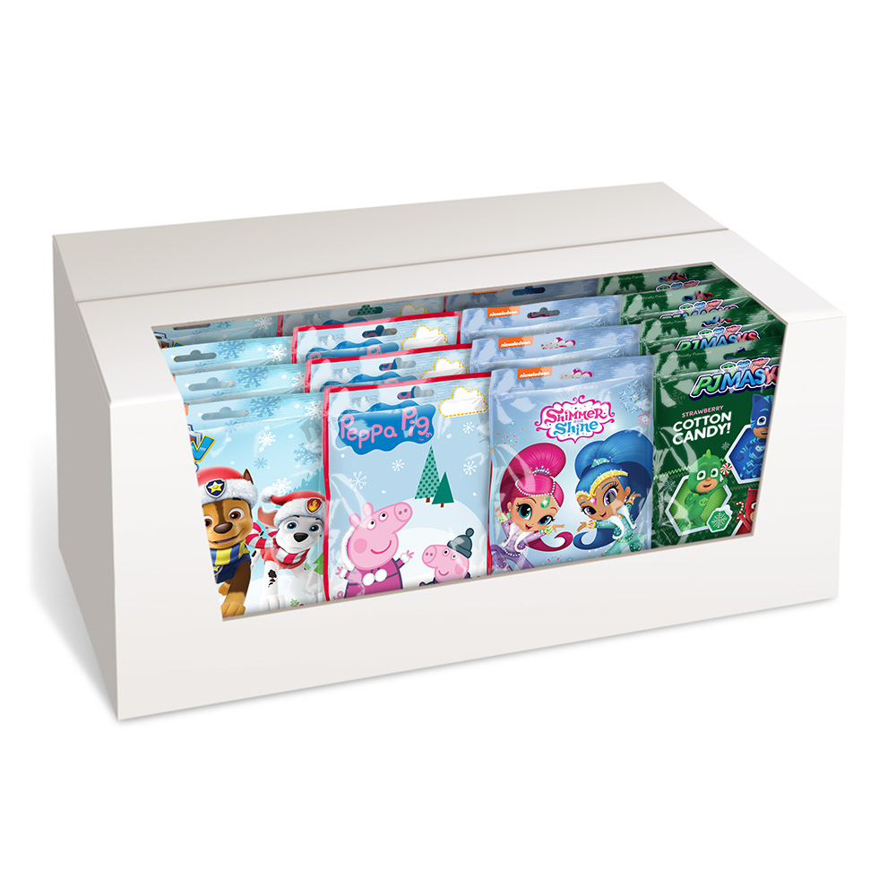 Assorted Christmas 2oz Cotton Candy Bags Cut Case