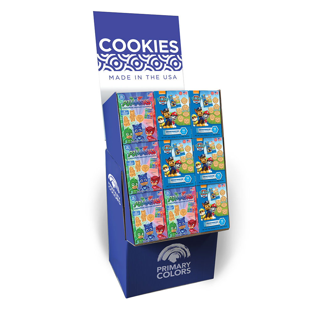Assorted Multi 12pk Cookie Box Shipper, Paw Patrol & PJ Masks