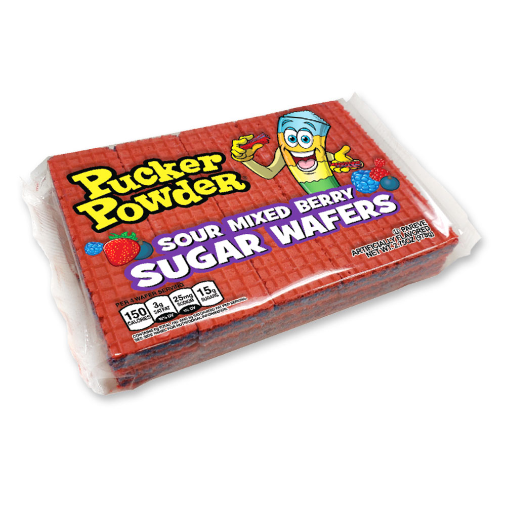 Pucker Powder Sour Mixed Berry Sugar Wafers