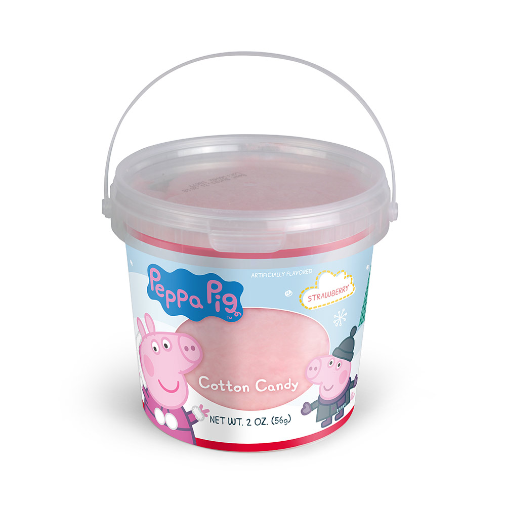 2oz Peppa Pig Winter Cotton Candy Tub