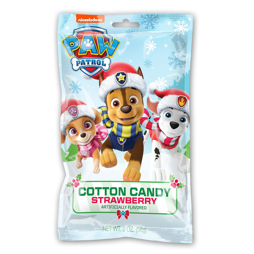 2oz Paw Patrol Christmas Cotton Candy Bags Cut Case