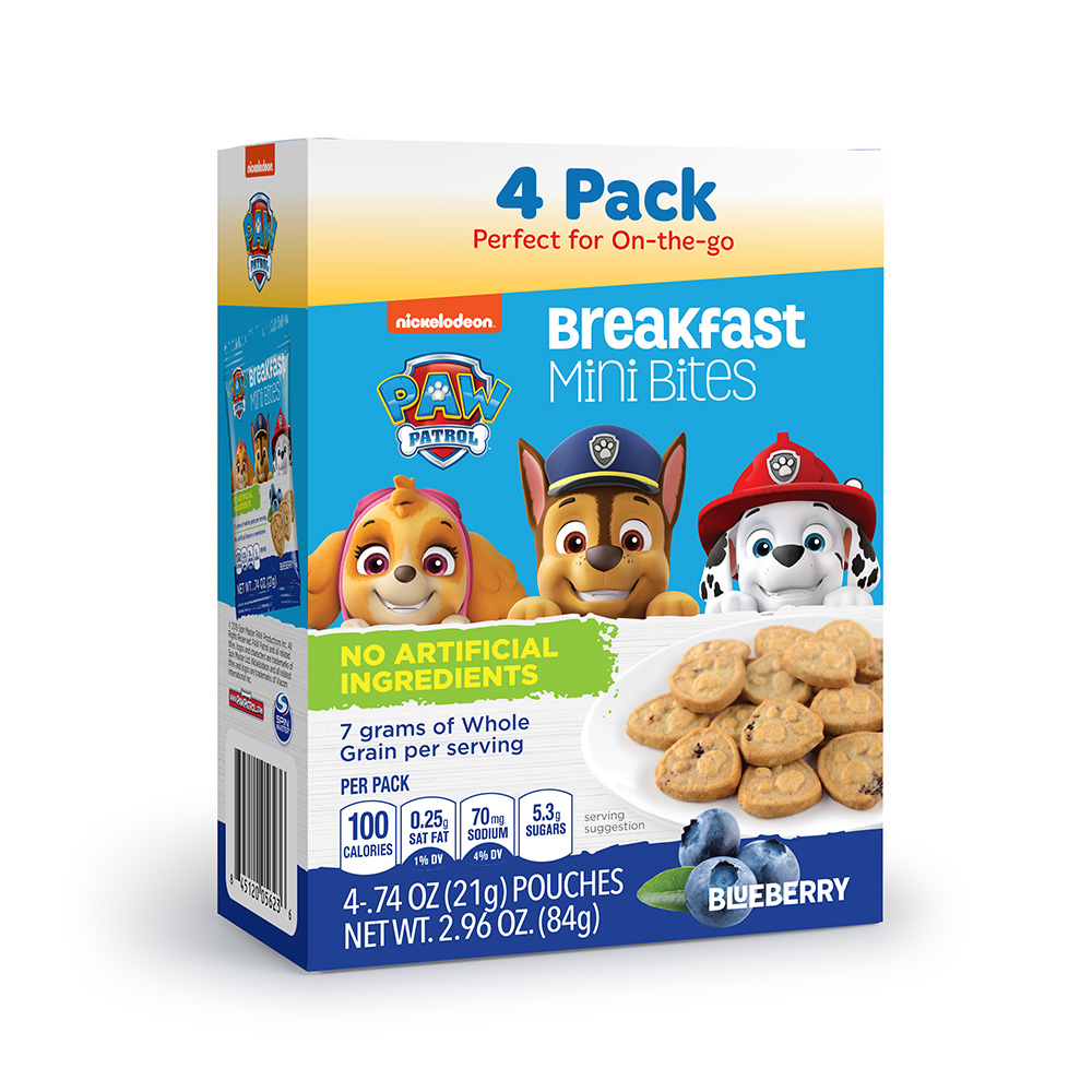 4pk Paw Patrol Blueberry Breakfast Bites