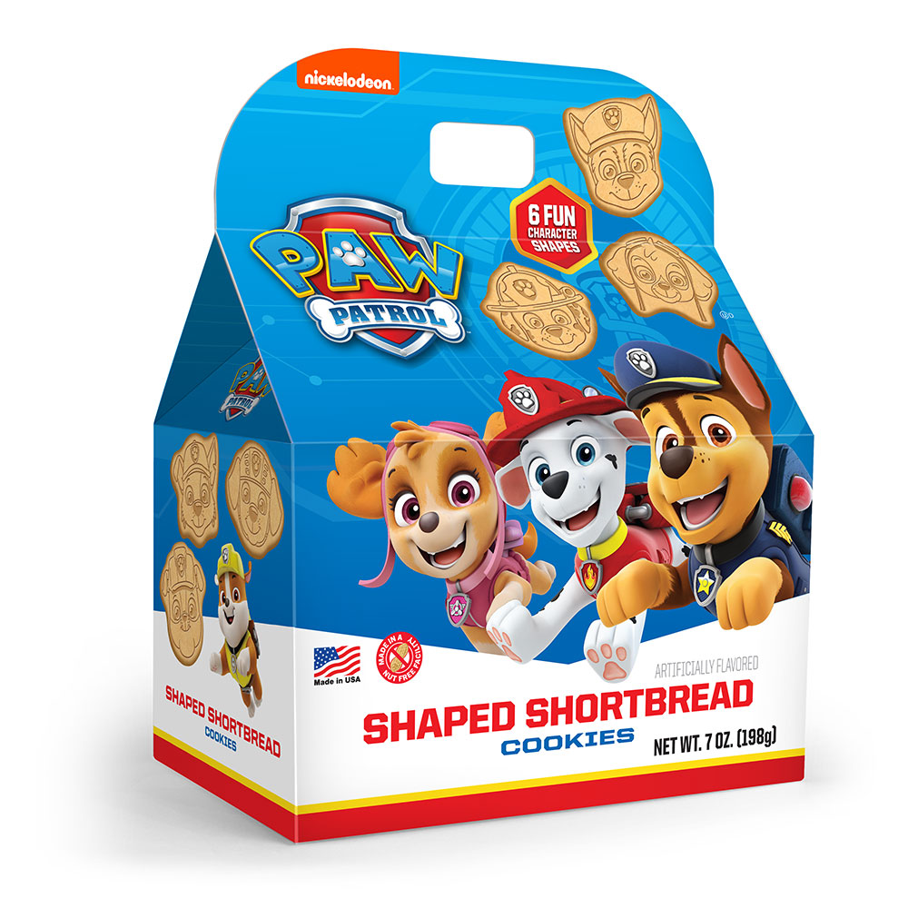 Paw Patrol Shaped Shortbread Cookie Gable Box