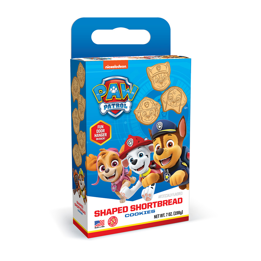 Paw Patrol Shaped Shortbread Cookie Cuboid Box