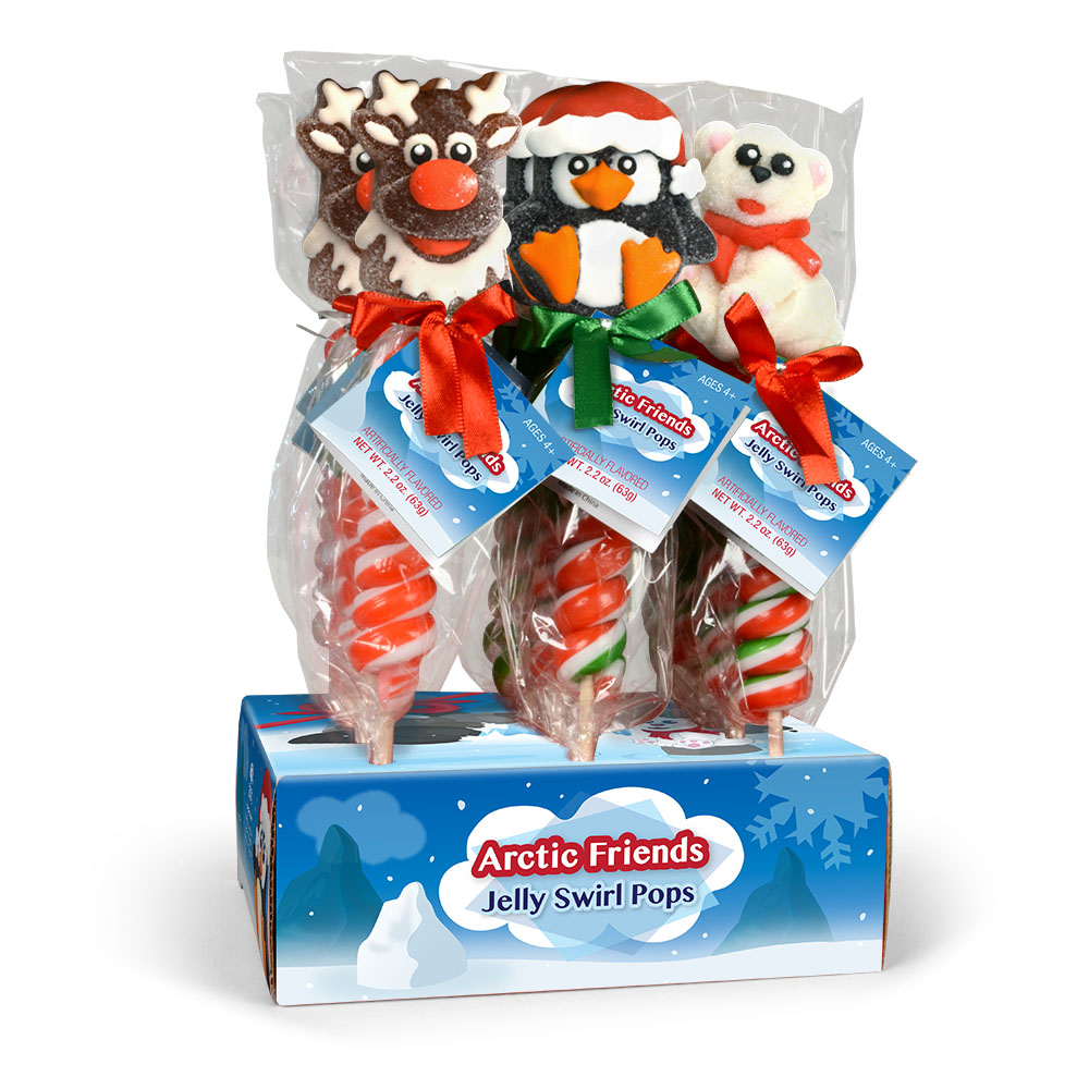 Arctic Friends Jelly Swirl Pops