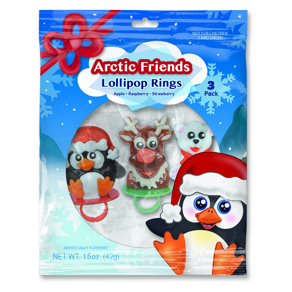 3pk Arctic Friends Lollipop Rings