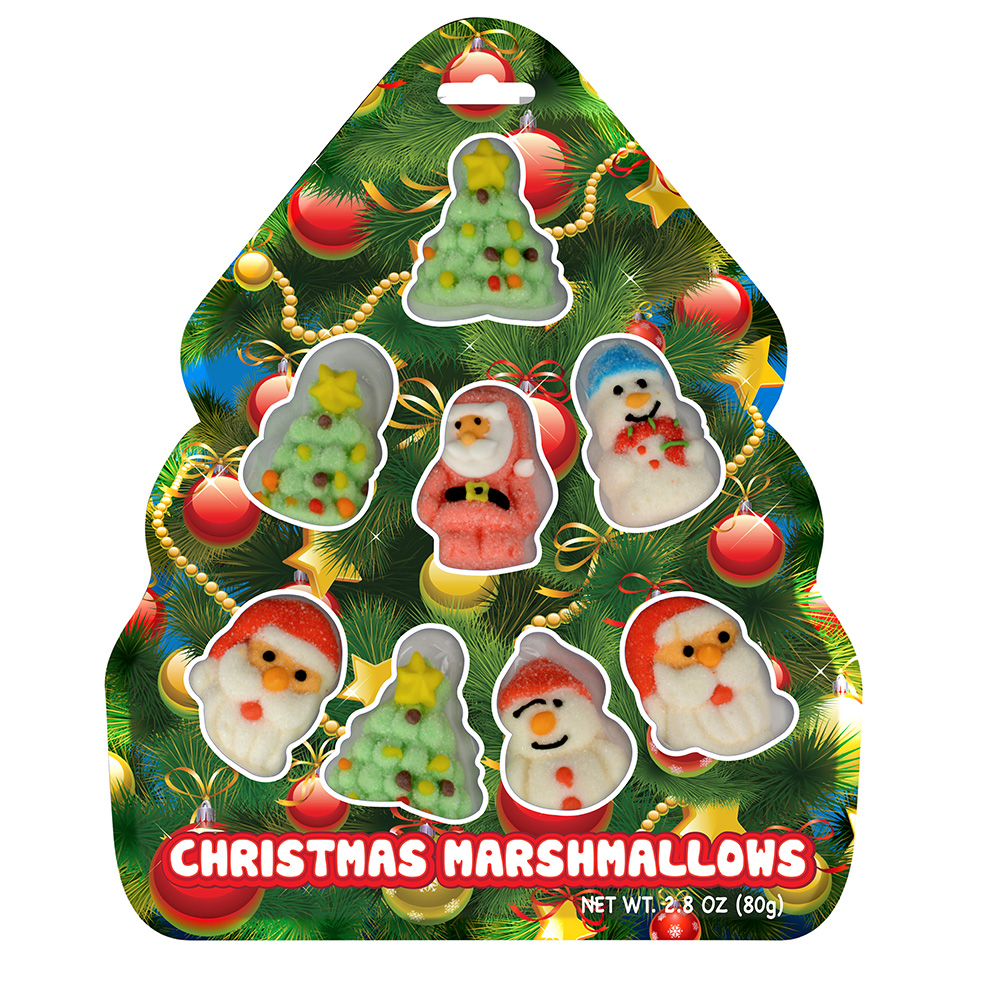 Christmas Tree Bag with Shaped Marshmallows