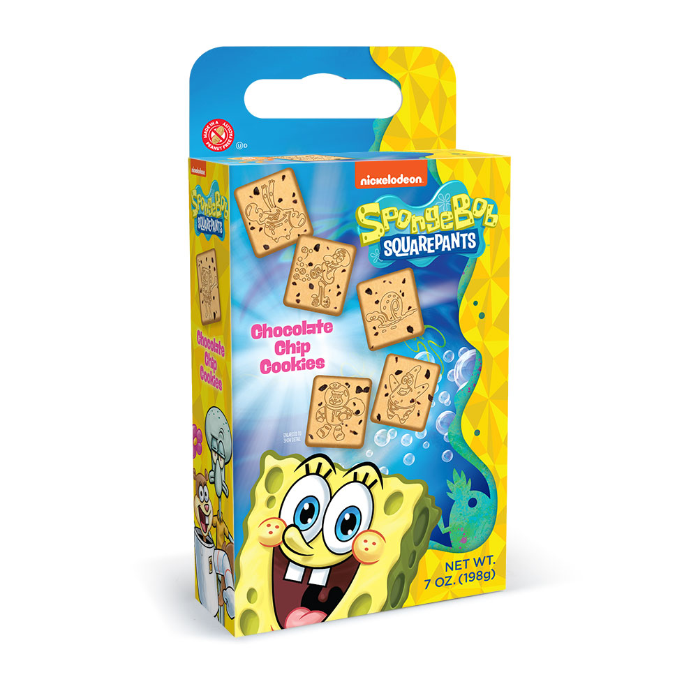 SpongeBob Shaped Chocolate Chip Cookie Cuboid Box