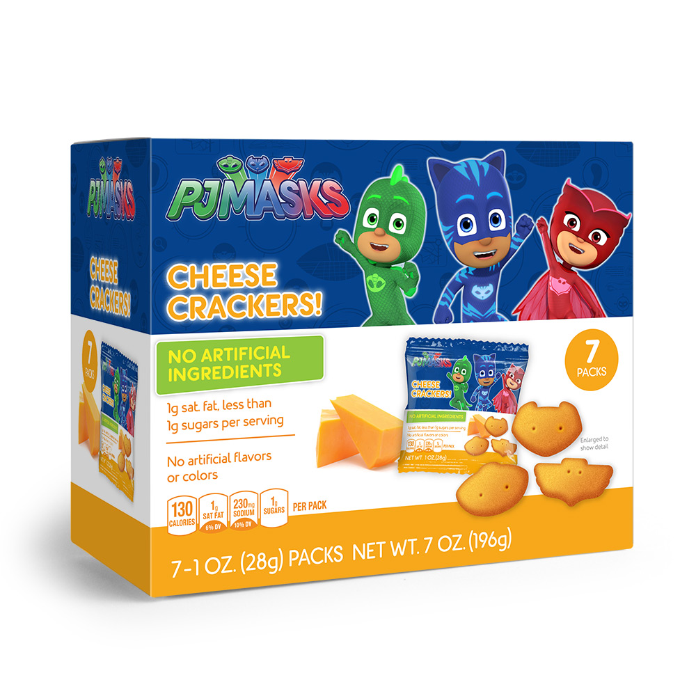 7pk PJ Masks Shaped Cheese Crackers