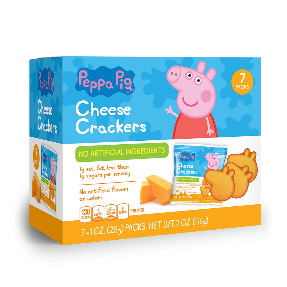 7pk Peppa Pig Shaped Cheese Crackers