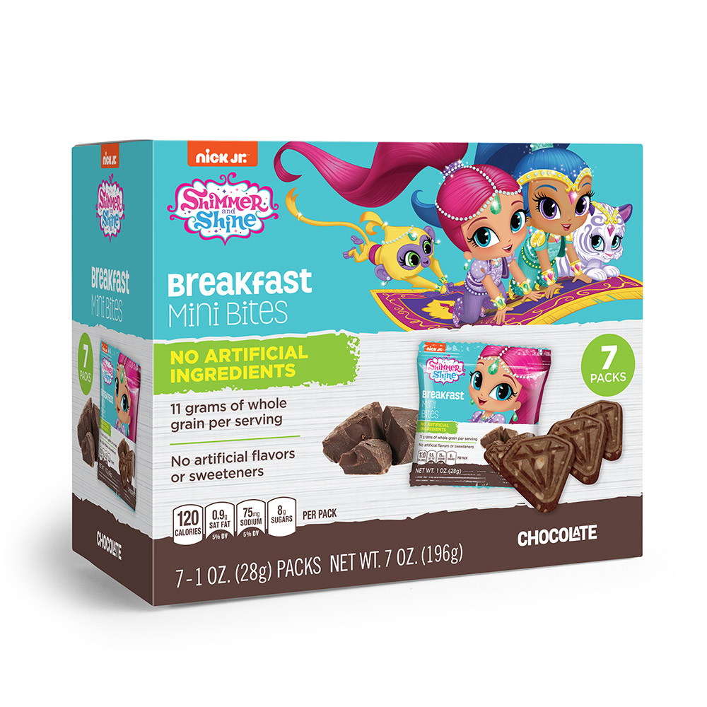 7pk Shimmer N Shine Chocolate Breakfast Bites