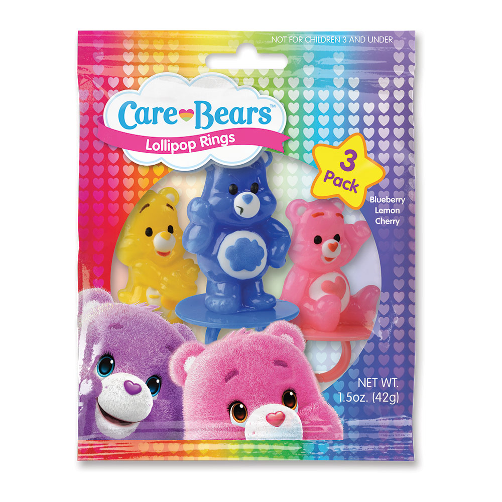 3pk Care Bears Lollipop Rings