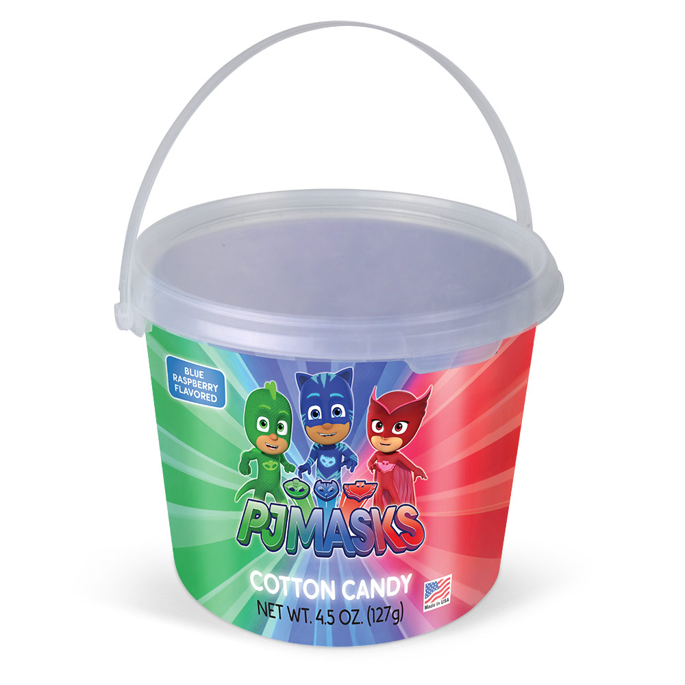 4.5oz PJ Masks Cotton Candy Tub, Blue Raspberry