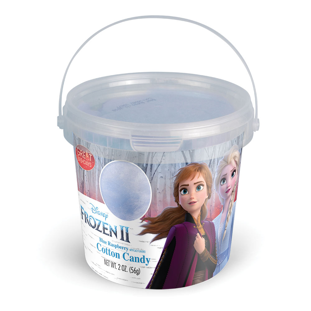 2.0oz Frozen II Cotton Candy Tub, Blue Raspberry