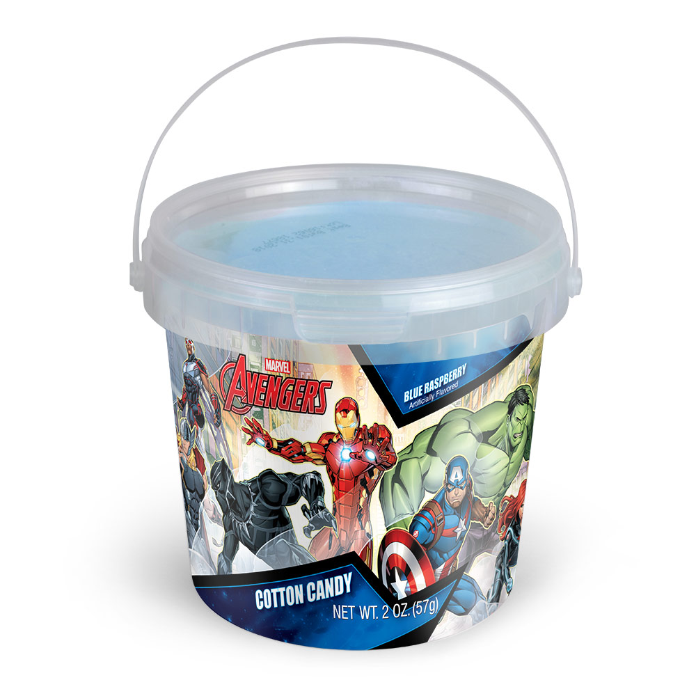 2.0oz Marvel Avengers Cotton Candy Tub, Blue Raspberry