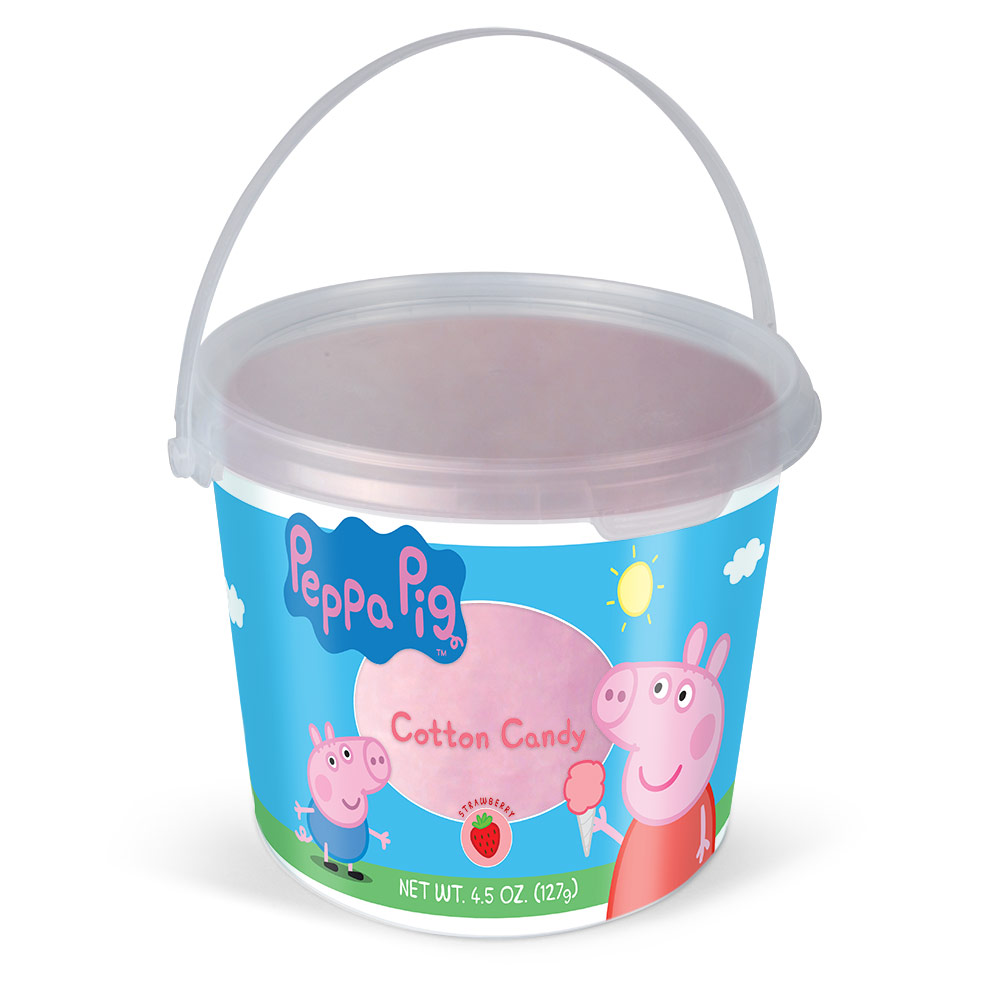 4.5oz Peppa Pig Cotton Candy Tub, Strawberry