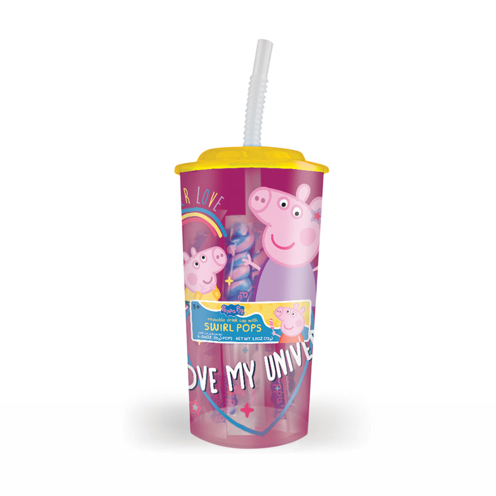 Peppa Pig Everyday Drink Cup with Swirl Pops