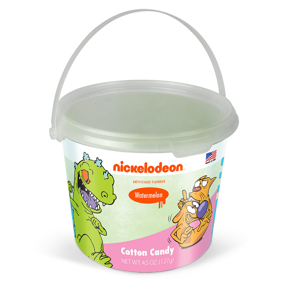 4.5oz Nick Retro 90's Cotton Candy Tub, Green Watermelon