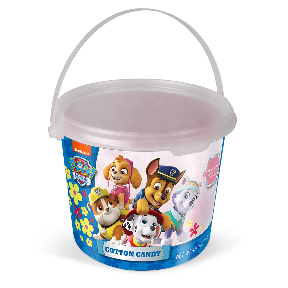 4.5oz Paw Patrol Cotton Candy Tub, Strawberry