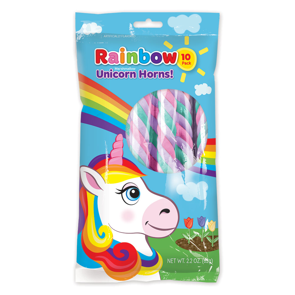 10pk Rainbow Unicorn Marshmallow Twist