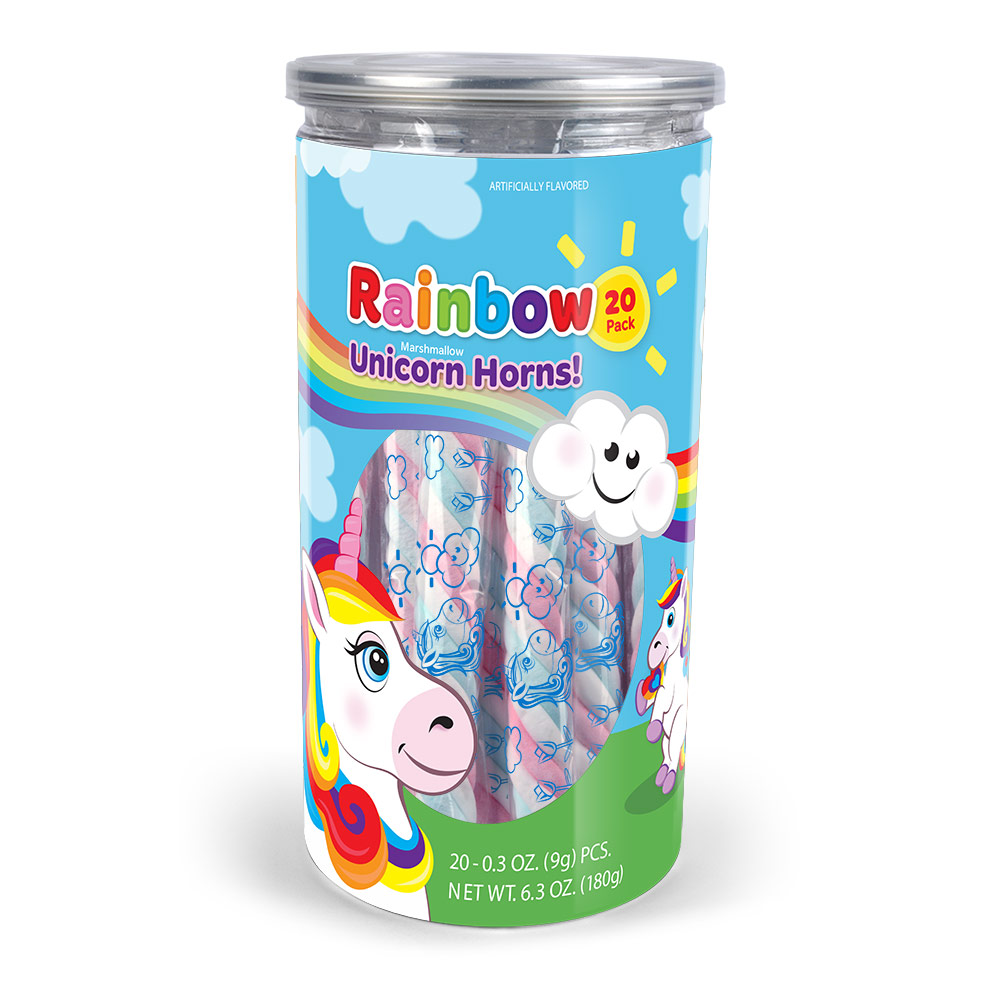20pk Rainbow-Unicron Marshmallow Twist Tub