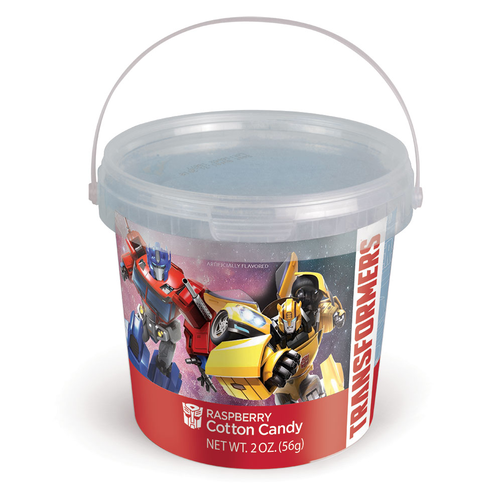 2.0oz Transformers Cotton Candy Tub, Raspberry