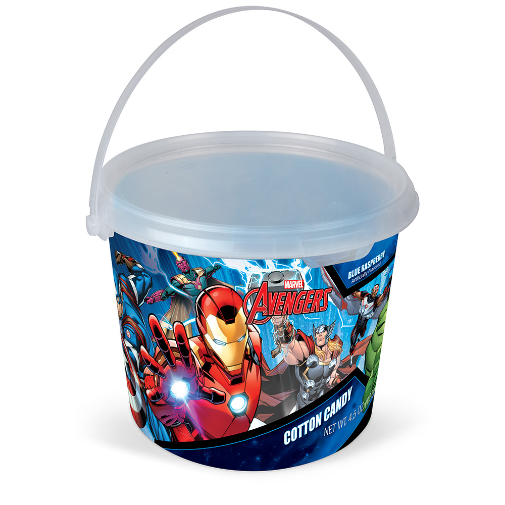 4.5oz Marvel Avengers Cotton Candy Tub, Blue Raspberry