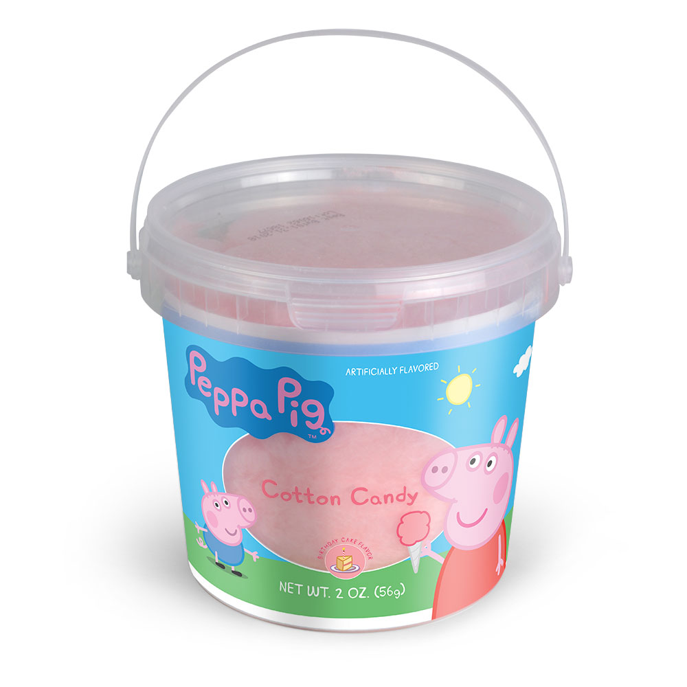 2.0oz Peppa Pig Cotton Candy Tub, Birthday Cake