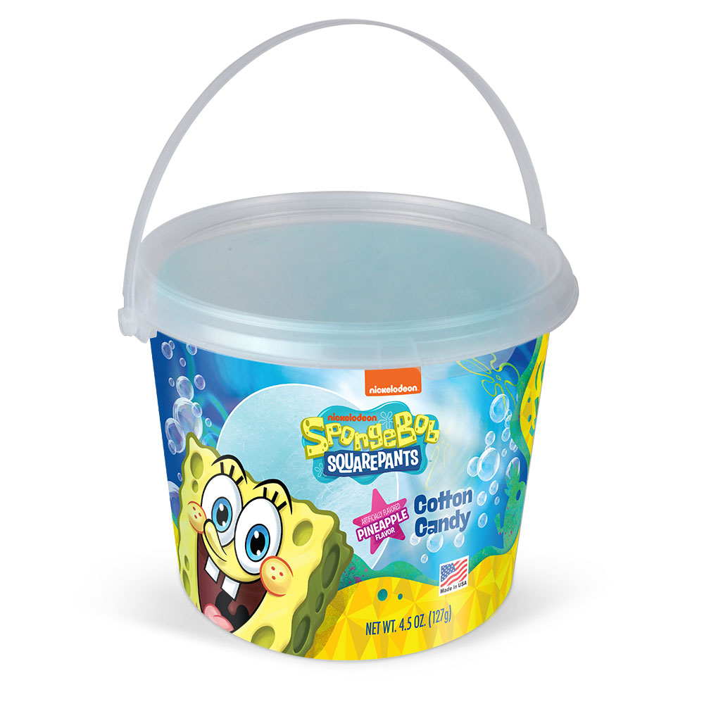 4.5oz SpongeBob Cotton Candy Tub, Pineapple