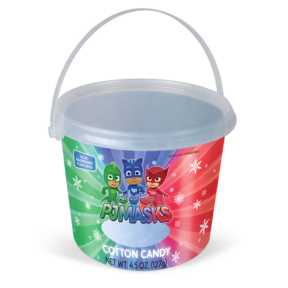 4.5oz PJ Masks Christmas Cotton Candy Tub