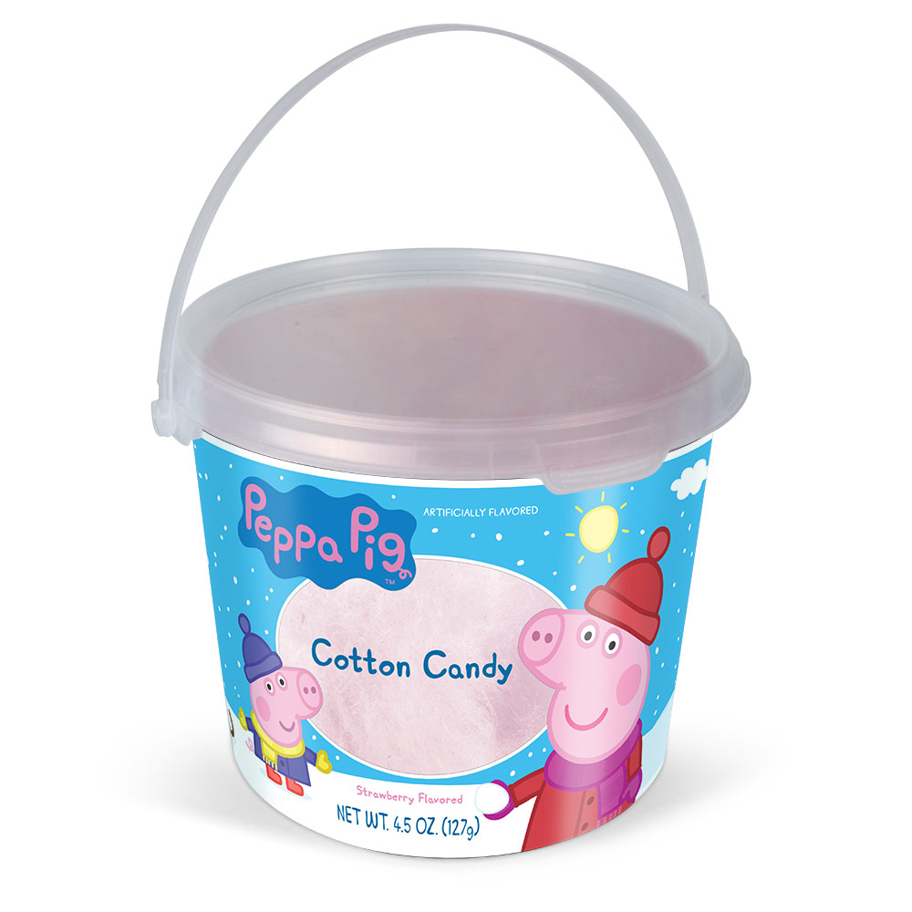 4.5oz Peppa Pig Christmas Cotton Candy Tub