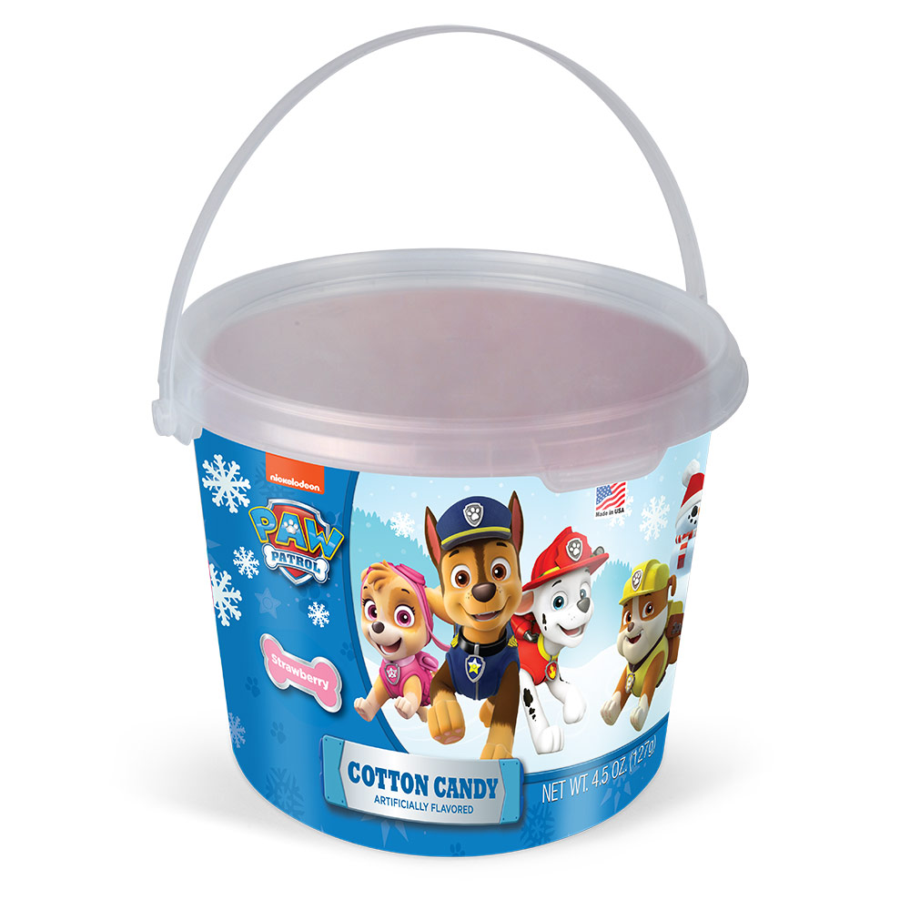 4.5oz Paw Patrol Christmas Cotton Candy Tub