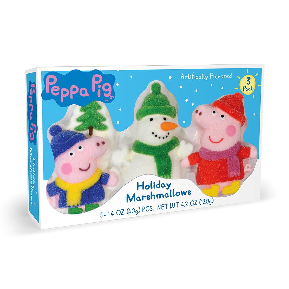3pk Peppa Pig Christmas Shaped Marshmallows
