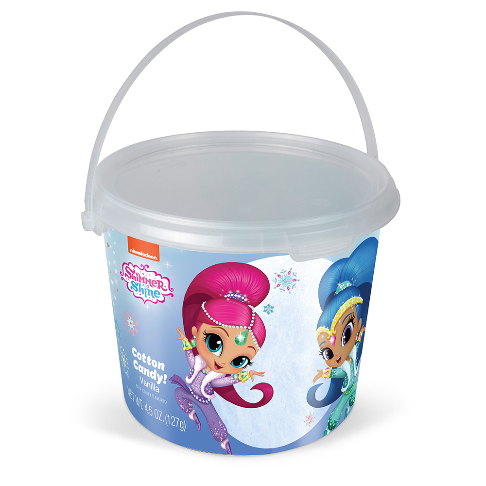 4.5oz Shimmer N Shine Christmas Cotton Candy Tub