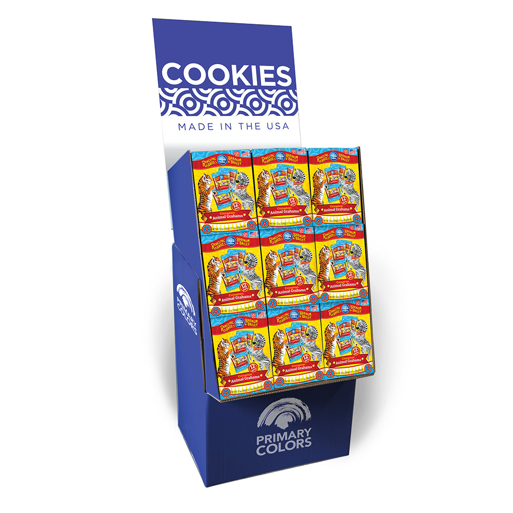 12pk Ringling Brothers Cinnamon Graham Cookie Multi Box Shipper