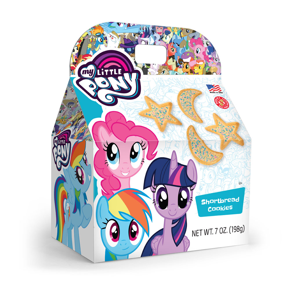 My Little Pony Stars N Moons w/ Sprinkles Shortbread Cookies Gable Box