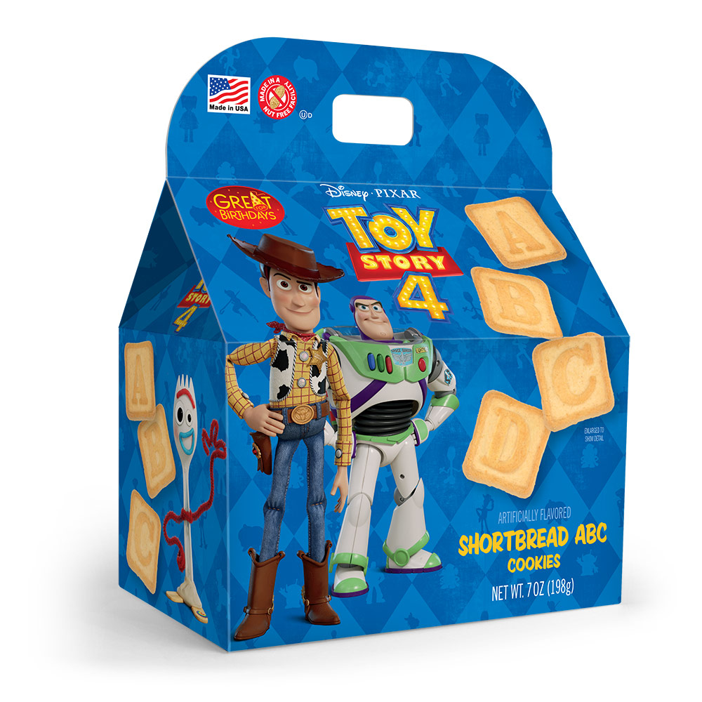 Toy Story 4 ABC Shortbread Cookies Gable Box