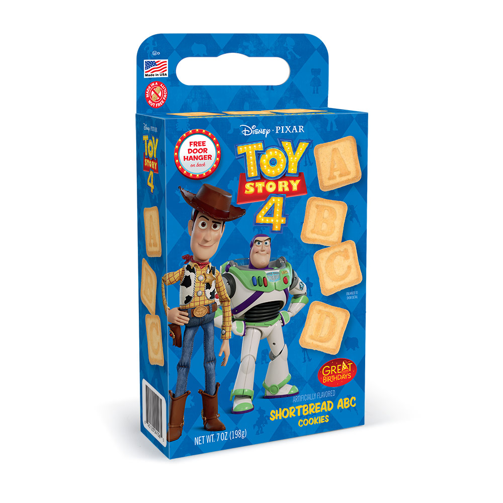 Toy Story 4 ABC Shortbread Cookie Cuboid Box