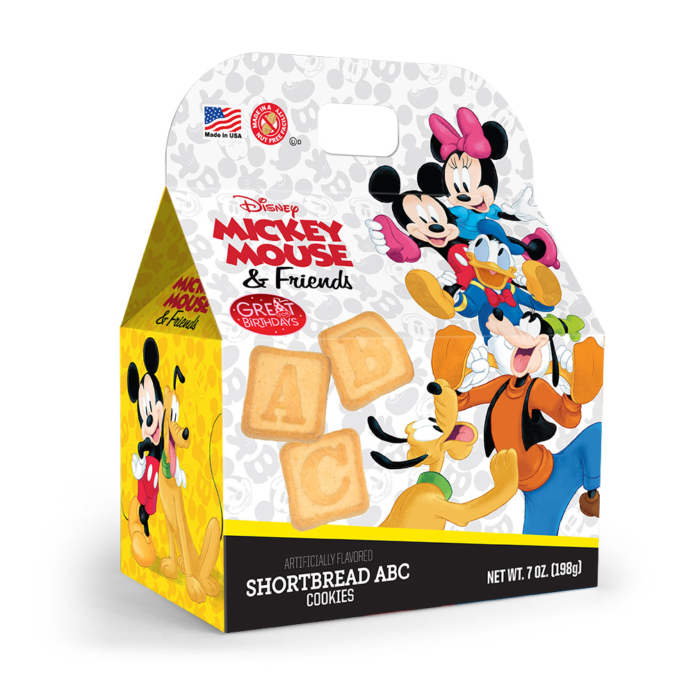 Mickey Mouse and Friends ABC Shortbread Cookies Gable Box