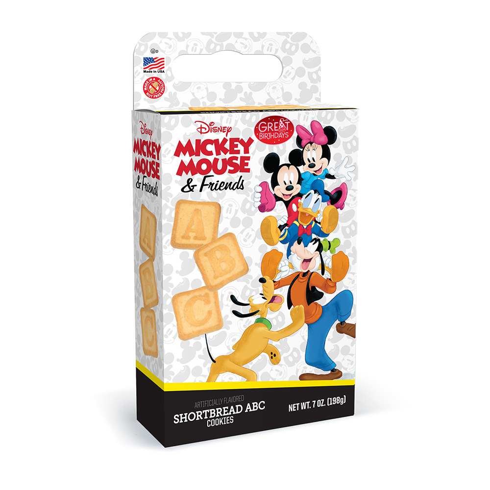 Mickey Mouse & Friends ABC Shortbread Cookie Cuboid Box
