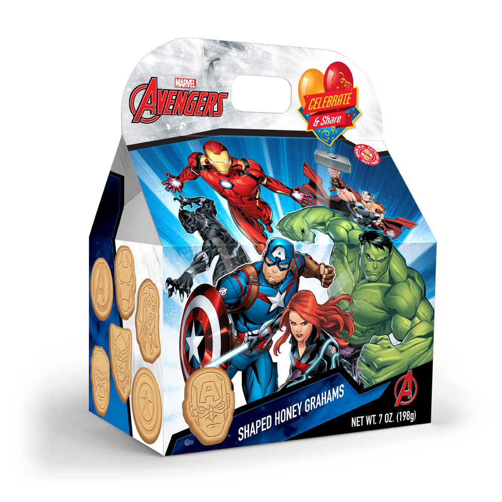 Marvel Avengers Honey Graham Cookies Gable Box
