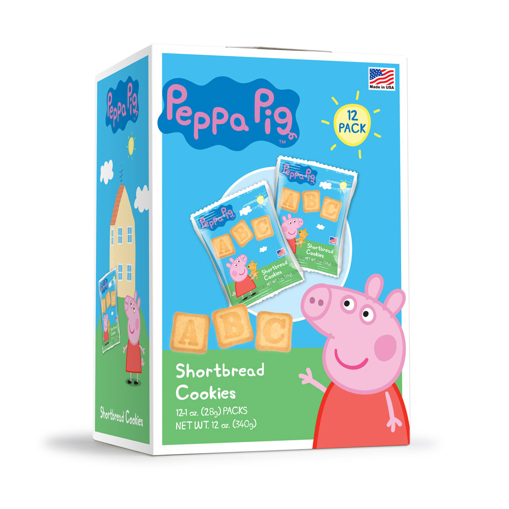 12pk Peppa Pig ABC Shortbread Cookies