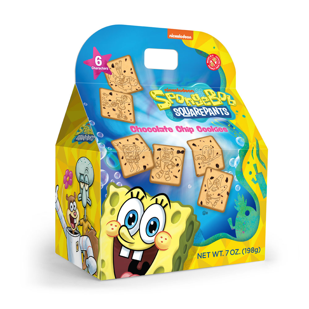 Spongebob Shaped Chocolate Chip Cookie Gable Box