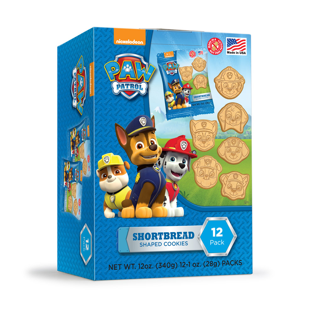 12pk Paw Patrol Shaped Shortbread Cookies