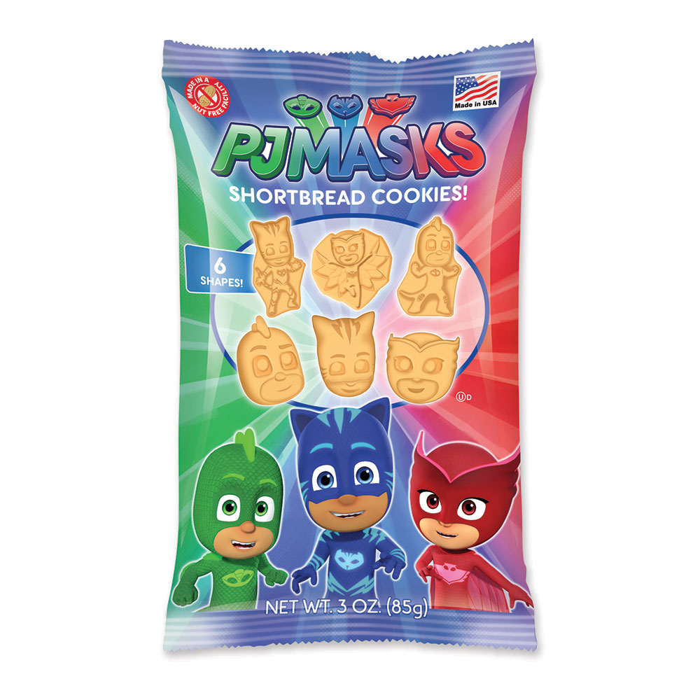 PJ Masks 3oz Shaped Shortbread Cookies Bag