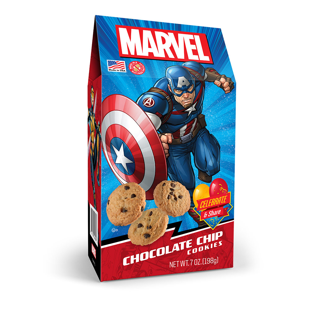 Marvel Avengers Captain America Chocolate Chip Cookies Pinnacle Box