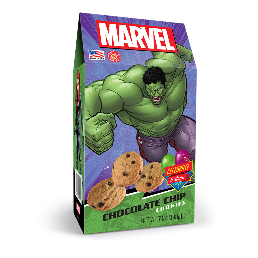 Marvel Avengers Hulk Chocolate Chip Cookies Pinnacle Box